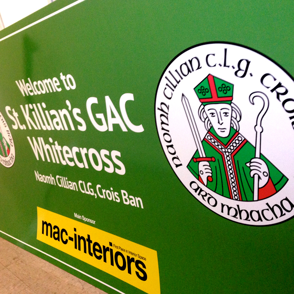 St killians gac foamex signage